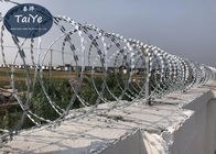 Heavy Zinc Coated Galvanized Razor Wire CBT60 CBT65 Chemical And Coasts Area Use