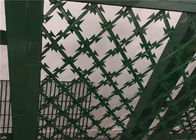 Green Powder Coated Welded Razor Wire Mesh Highway Razor Mesh Fence Longlife