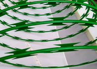 Custom Green Powder Coated Razor Wire Mesh BTO-22 For Razor Welded Fencing