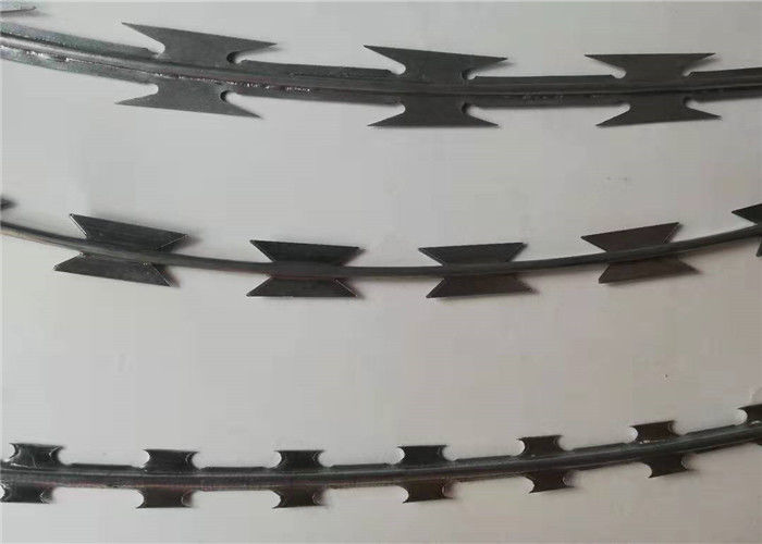 Coil Razor Barbed Wire Mesh Fencing Razor Barbed Tape Wire For Wall Top And Border