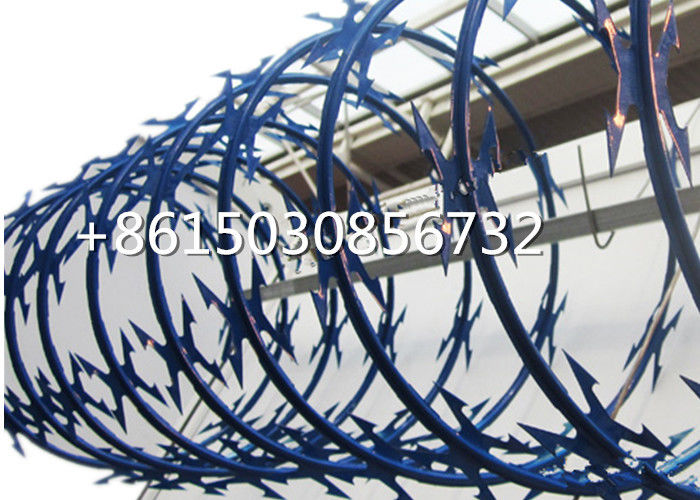 Anti Rust Powder Coated Concertina Razor Barbed Wire For Welded Razor Fence